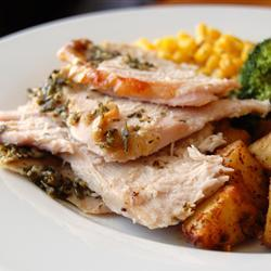 This recipe makes your turkey moist and full of flavor. You can also use this recipe for Cornish game hens, chicken breasts or roasting chicken.