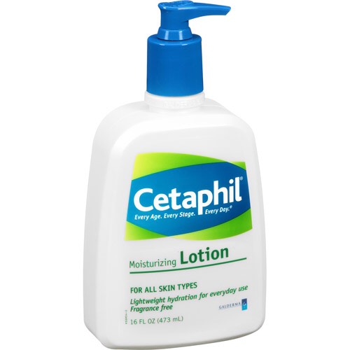 #1 Cetaphil Lotion  This lotion is so incredibly moisturizing. It even works well on dry faces since it's really gentle.