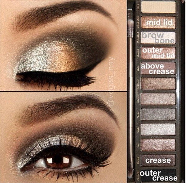 Look #4: Begin by applying Half Baked to the mid lid. Then, apply Chopper to the outer mid lid. Apply Busted to the crease, and Tease above the crease.  Apply Blackout to the outer crease.