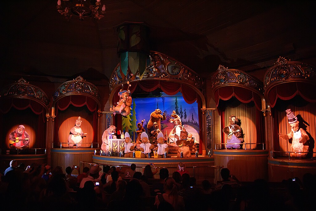 Country Bear Jamboree Come see this musical show starring the country bears.  Height: Any FP+: No