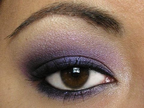 If you have brown eyes, purple eyeshadow is the best for you! This color