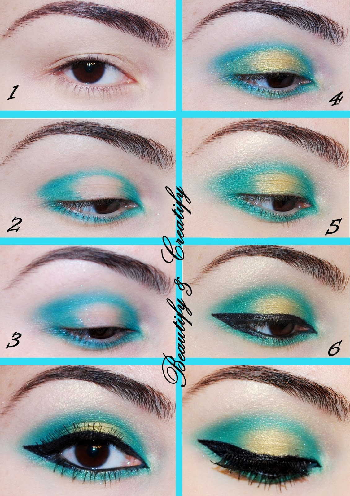 Romantic Turquoise Eye Makeup Tutorial By Georgette Musely