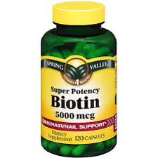 Biotin promotes hair growth, along with your nails. And healthy skin!