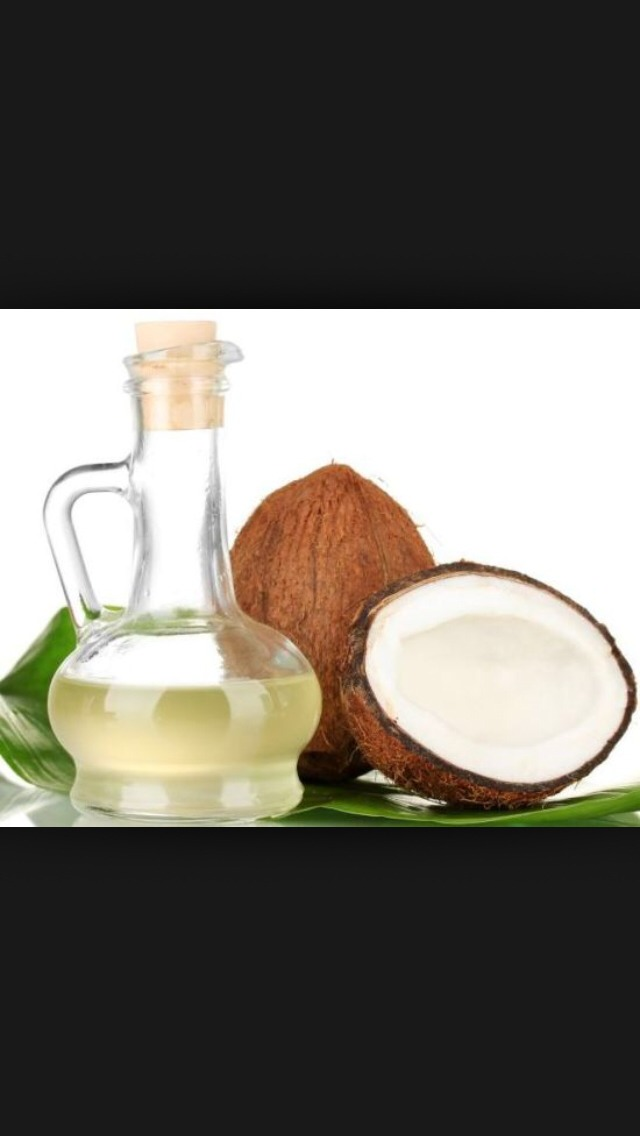 Apply coconut/Argan oil 30-60 minutes before a bath or shower.