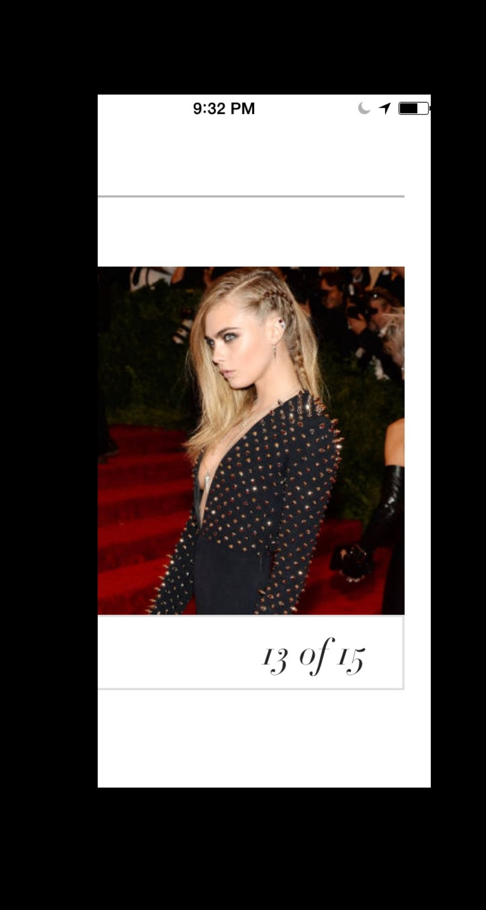 Peek-a-Boo A tiny braid close to the scalp adds a punky edge to Cara Delevingne's free-flowing styles.