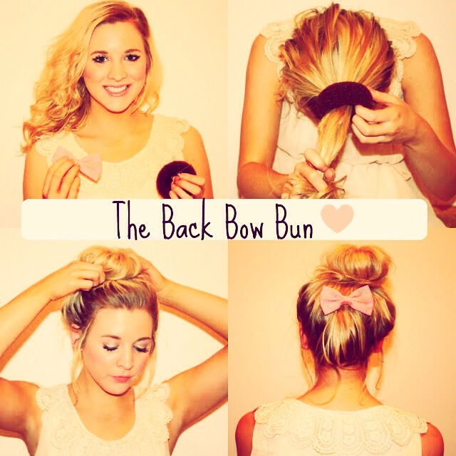 Easy High Bun With bow, TRY IT !