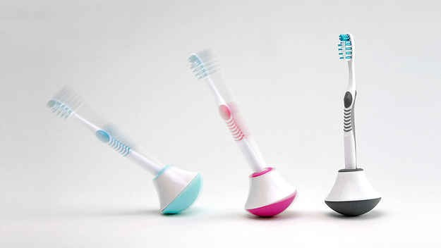 11. Bobble Toothbrush Stand