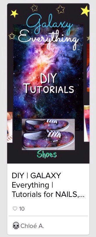 Check out my GALAXY EVERYTHING DIYs // Shoes, Dress, Light-Up Wall Art & more!    annnnnnnd...