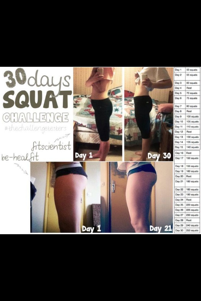 30 Day Squat Challenge by Maria DiStefano - Musely