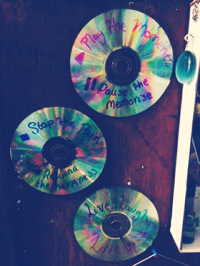 Sharpie designs on CD's