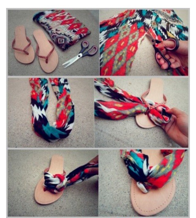 Style 1 Using a floral or colourful cloth