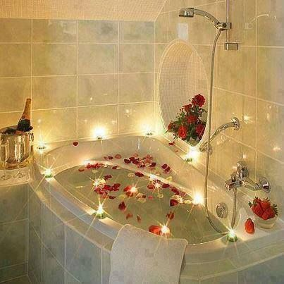 Treat yourself to a luxurious bath. Try bathing in goat milk if possible for better results