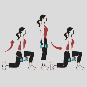 Do lunges for 5 minutes