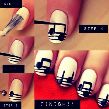If you love listening to music and nails u will love this design 🎶🎵 its so simple
