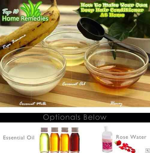 Things you will need:  • A banana • Coconut milk • Coconut oil • Honey • A blender • A bowl • A tablespoon