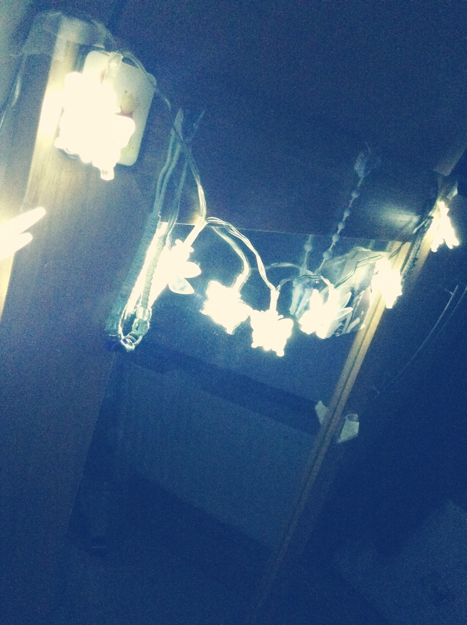 Fairy lights are very cute for setting the mood or just for lighting when reading instead of large distracting lights!