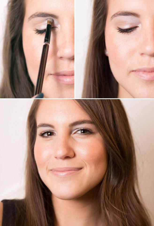 9. Make eyes appear wider by applying a soft, shimmery shadow in the upper, inner region of your eyelid. This creates the illusion of more space between your eyes and adds a touch of glimmer without being too much.