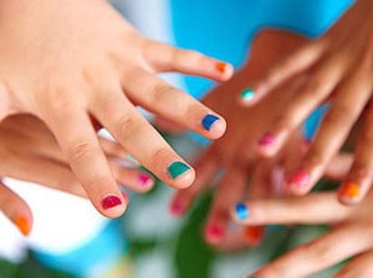 12. Set up a station where kids can play musical manicures.