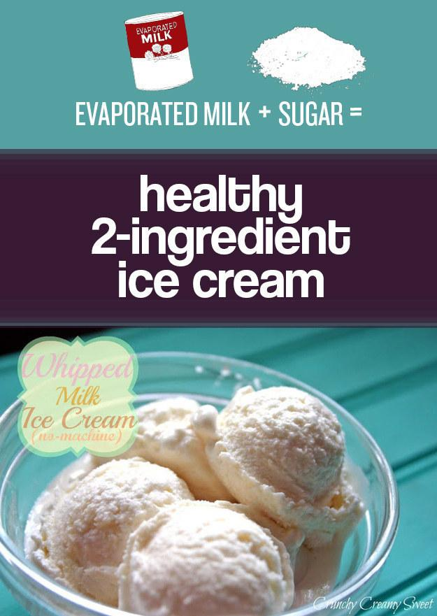 20. Use evaporated milk instead of heavy cream in desserts.