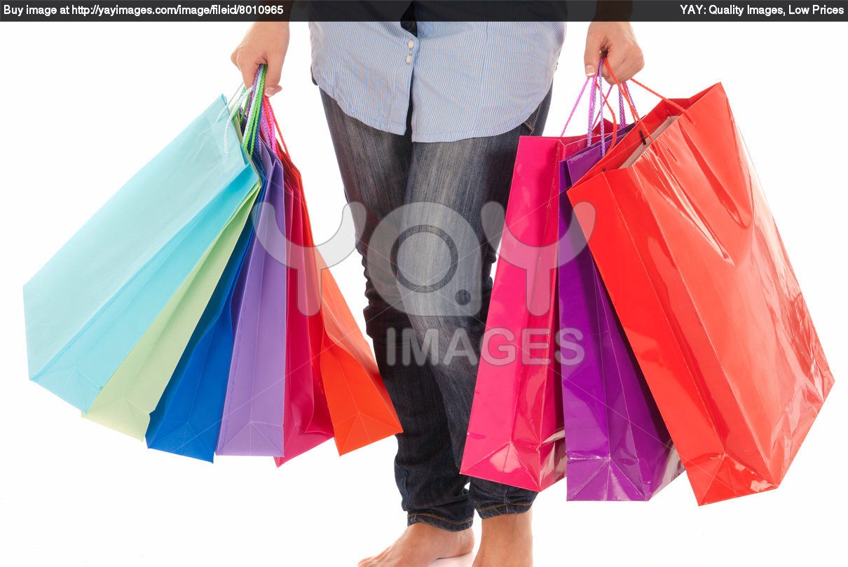 To Many bags when shopping put your thing all in one bag or couple of bags