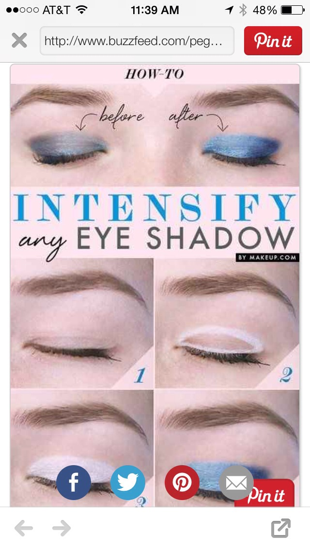 Draw white eyeliner underneath your eyeshadow to make it the color stand out!