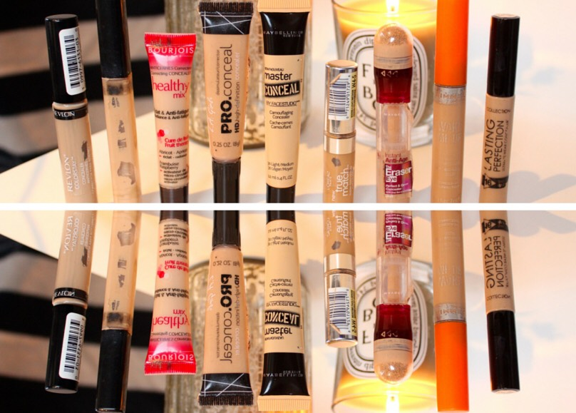 First let's start off with concealers , I owna bunch of drugstore concealers my favourite is the Maybelline Fit me concealer