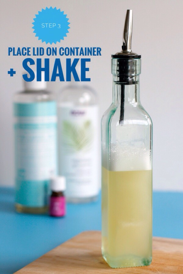 STEP 3 | Place the lid on the container + give it a good swirly shake to mix it all up.