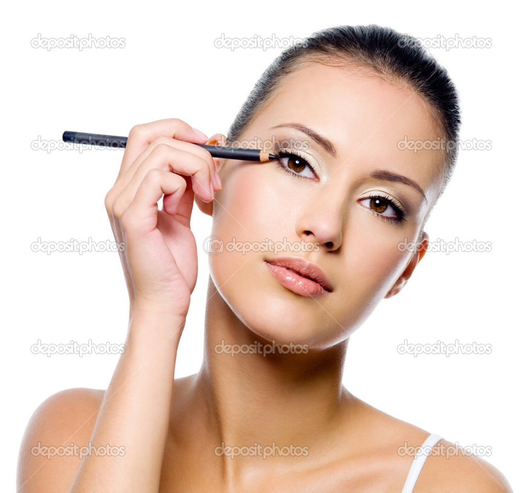 Eye Makeup Tip---When applying an eyeliner, start from the inside corner of your eye and work outwards toward the outside.
