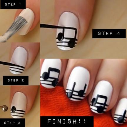 Beautiful step by step nail designs to do at home gallery 33 unbelievably cool nail art prinsesfo Image collections