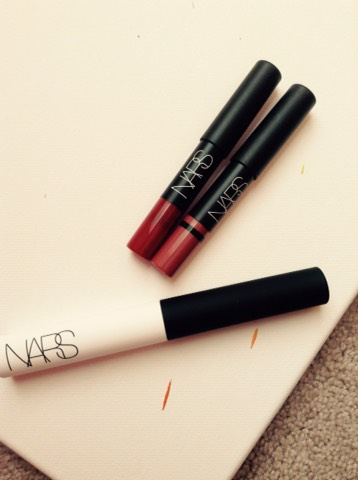 Nars eyeshadow primer and my birthday gift. Two Nars lippies!!