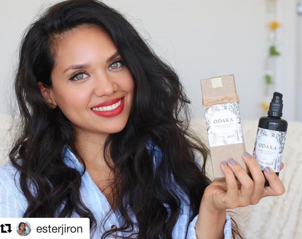 Check out review by Ester Jiron on @odaraskincare makeup removing oil cleanse which doubles up as moisturizer and lip primer for liquid lipstick! https://www.youtube.com/watch?v=S0ExSYmsuCE