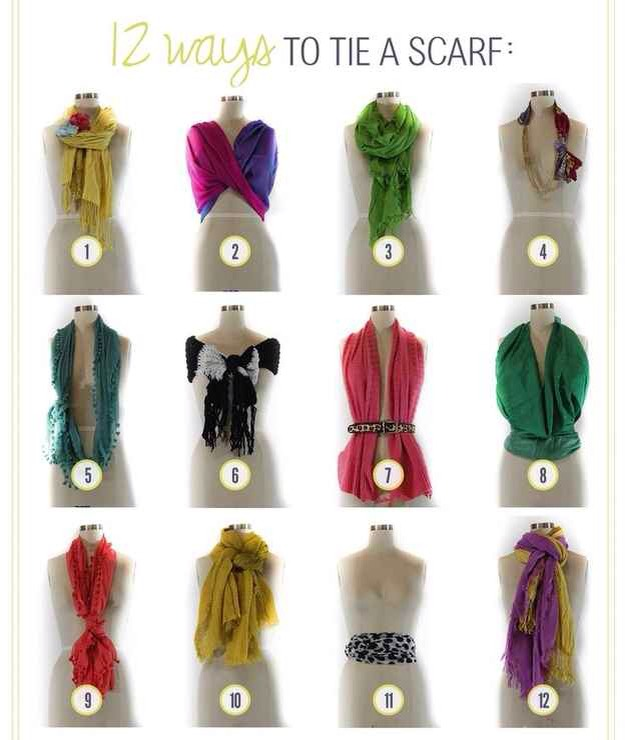 14. Here are various ways of how to tie a scarf🎀❤️ Go fun yourself!😏📡