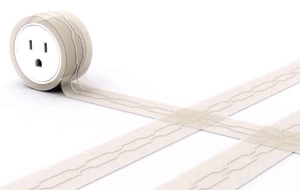 9. This extension cord, which is flat and sticky like tape so no one will trip over it.