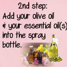 Any kind of healthy essential oil you like & just regular olive oil