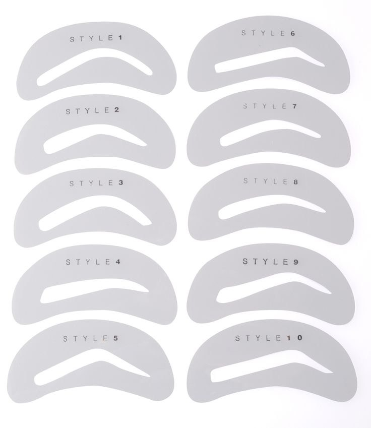 Take an eyebrow stencil of your choice and your eyebrow gel, powder and apply to the inside of the stencil