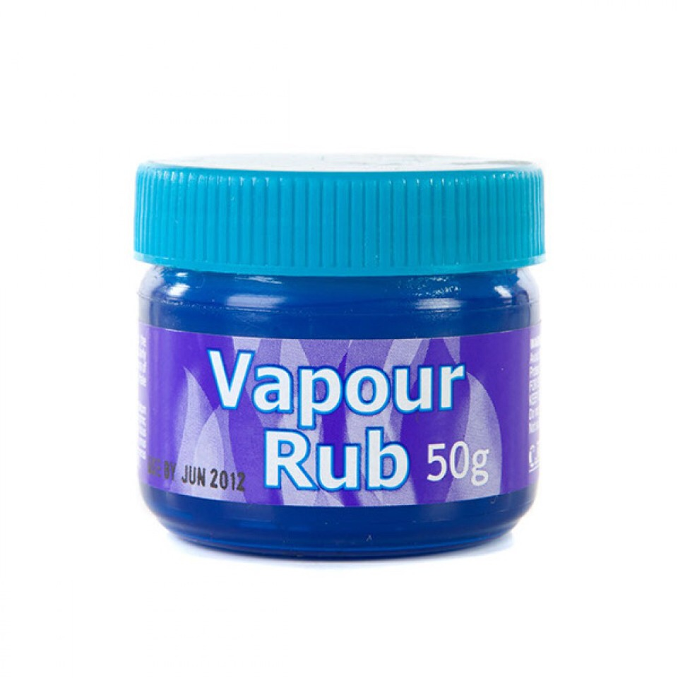 Chesty cough? Rub vapour rub onto the bottom of your feet and put socks on straight away, do this preferably on a night before bed, it will also help to keep your feet smooth!