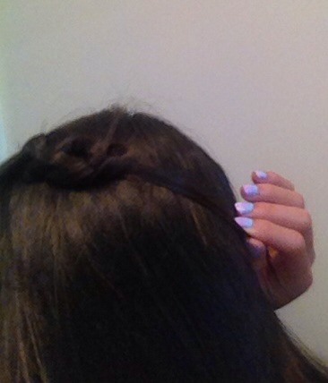 Now clip in place in the back/side of your head. This look is perfect for when you don't know what to do with your hair.