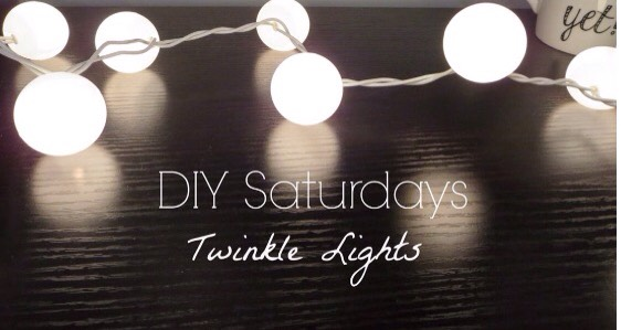 This is really easy and super cute! All you do is purchase regular ping pong balls, cut a hole in them big enough to fit the lights and then place them inside.