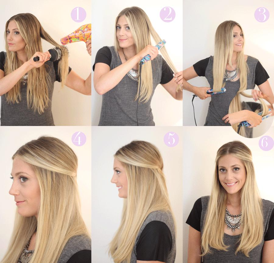how to make your hair naturally straight after shower