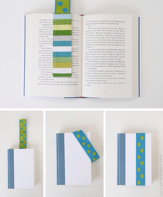 29. Stay-Put Elastic Bookmarks Why is this the first time I've come across these? I'm not sure if you can buy them or not, but you can certainly make them. They mark your page and keep your book securely closed at the same time.  This would be a brilliant gift for a traveler and book lover!