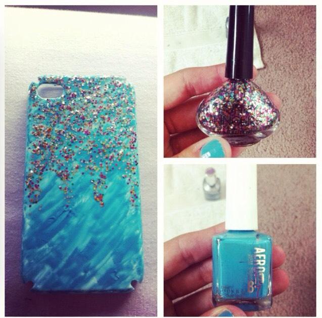 13. Nail polish phone case