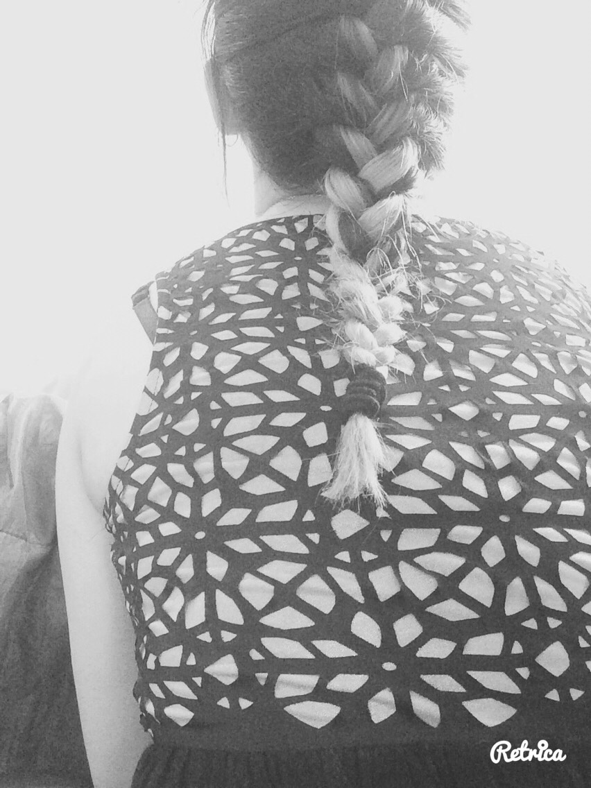 First plait your hair