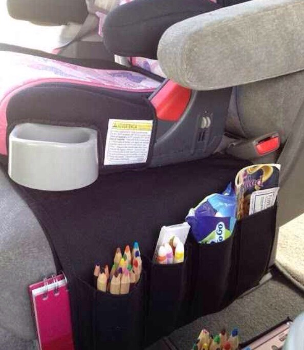 Use the Flort remote holder in the car for all your kids' stuff!!