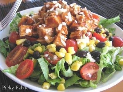 2. BBQ Chicken Salad with Cilantro Ranch Dressing