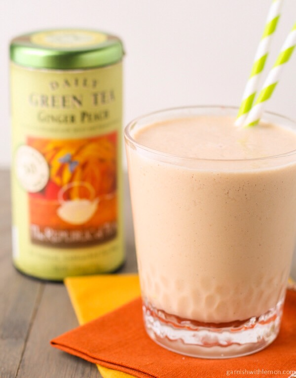 Green tea, cinnamon, and honey smoothie  1/2 a cup of green tea 1/2 a cup of unsweetened almond milk 1 teaspoon of cinnamon 1 tablespoon of honey 1/2 a banana