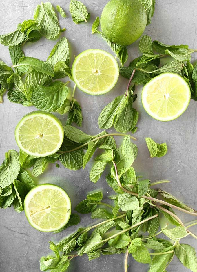 Lime + mint