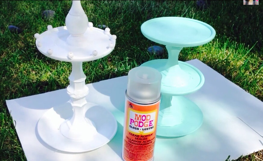 Spray Mod Podge sealer over entire piece