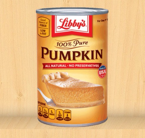 Libbys' website has more info and great recipes for when you want to taste the pumpkin for pumpkin lovers like myself.