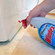 5. Use Windex to move a heavy appliance.  Spray Windex around and in front of the feet of the appliance you're trying to move. It will slide much more easily.