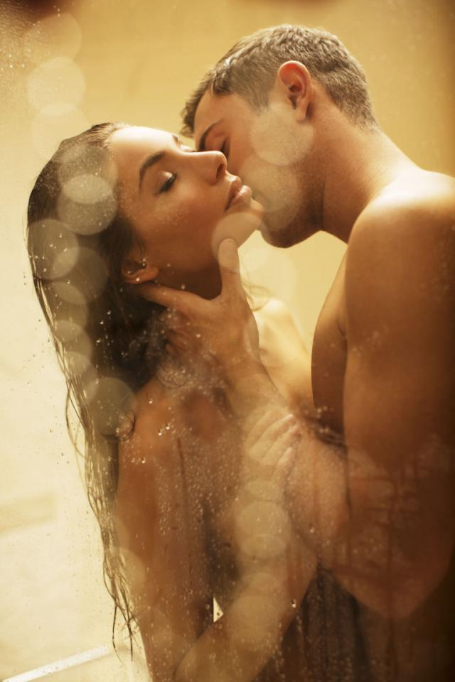 1. Rub a deliciously scented exfoliant on each other's backs. Who doesn't love a salt scrub on your back when you don't need to dislocate your shoulder to do it?